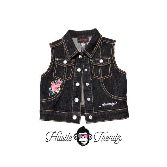 Ed Hardy Jackets Amp Coats Kids Denim Vest Poshmark
